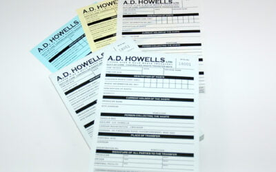 Waste Transfer Note Printers for AD Howells